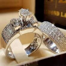 Modyle Luxury Crystal <b>Female Zircon Wedding</b> Ring Set <b>Fashion</b> ...