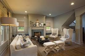 fascinating craftsman living room chairs furniture: living room in craftsman style home in dublin ohio