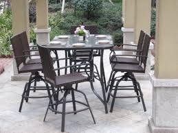 wicker patio bar dining set seats bar height patio furniture balcony height patio dining furniture