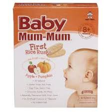 <b>Baby Mum</b>-<b>mum</b> Rice Rusks <b>Apple</b> and Pumpkin Flavour 36g | The ...