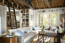 warm living room ideas:  ebdba little house on the lake couch living area  xln