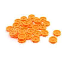 <b>30 Pcs</b> 2mm Hole <b>Orange Plastic</b> Belt Pulley for DIY RC Toy Car ...