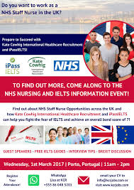 nhs nursing and ielts information event porto nhs nursing and ielts information event porto 1st