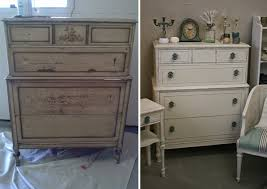 fresh look for a worn out dresser with old white chalk paint chalk painting furniture ideas