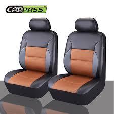 NEW <b>CARPASS</b> Pu Leather <b>Auto</b> Seat Covers <b>Full</b> Synthetic <b>Set</b> 2 ...