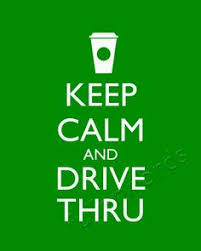 Image result for getting coffee at the drive thru