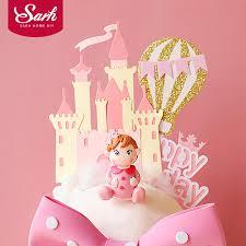 <b>Castle Star Balloons</b> Little Princess Girl's Happy Birthday Cake ...
