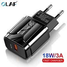 <b>OLAF</b> 18W Quick Charge <b>3.0 USB</b> Charger EU US 5V 3A Fast ...