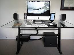 furniture modern orange computer desk design with black keyboard also set inspiration stylish interior design black glass top corner