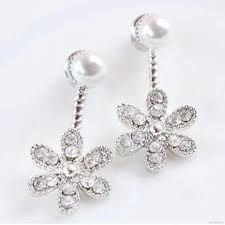 <b>Korean</b> Trendy <b>Pearl Five</b>-<b>leaf Flower</b> Stud Earrings Women ...