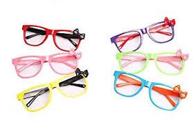 Set of 6 Children Kids Colourful <b>Fashion</b> Cute <b>Bowknot Glasses</b> ...
