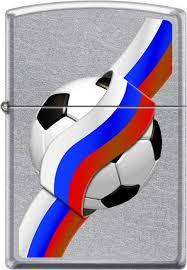 """<b>Зажигалка Zippo</b> """"Российский футбол"""", цвет: серебристый, 3,6 х ..."""