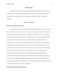 educational research synthesis essay eddc a nine lives of schola… synthesis essay