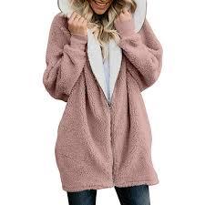 <b>Winter Thicken Warm</b> Faux Fur Coat <b>Fashion</b> Women Hooded Soft ...