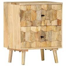 vidaXL <b>Bedside Cabinet 40x30x50</b> cm Solid Mango Wood– House ...