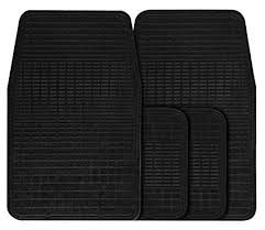 Streetwize BRMS Quality Budget Black 4 <b>Piece</b> Rubber <b>Car</b> Mat Set ...