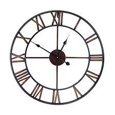 European style Creative <b>Roman Numeral</b> Wall-mounted Clock <b>Retro</b> ...