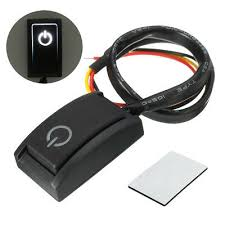 <b>Black</b> DC12V/<b>200mA</b> Car Push Button Latching Turn <b>ON/OFF</b> Switch ...