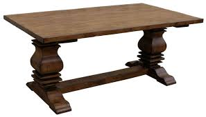 Dining Room Tables Reclaimed Wood Amish Reclaimed Furniture Old Rustic Distressed Trestle Pedestal