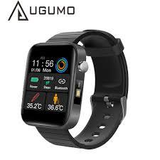 UGUMO <b>T68 Smart Watch</b> with Body Temperature Measure Heart ...