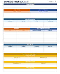 strategic planning templates smartsheet strategic vision template