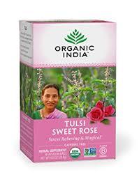 Organic India Tulsi Caffeine Free Tea, Sweet Rose ... - Amazon.com