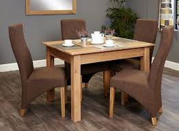 baumhaus mobel oak dining set with 4 full back upholstered chairs baumhaus mobel oak 4