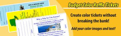 Raffle Ticket Printing Budget Color Raffle Tickets