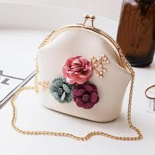 <b>Women Fashion</b> Stereo <b>Flowers</b> Shoulder Bag Ladies Small Vintage ...