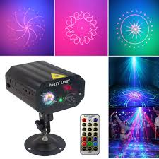 Sound Activated and Remote Control 36 Led Patterns Projector ...