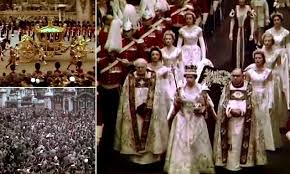 Archive video shows Queen Elizabeth II being crowned | Daily Mail ...