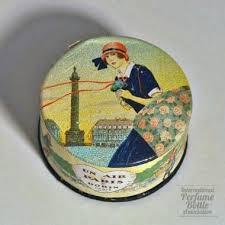 <b>Un Air de</b> Paris--cardboard face powder box--by <b>Dorin</b>, France, 1923 ...