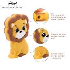 【Ready Stock】<b>5pc</b> BPA Free Mini Lion <b>Baby Teething</b> Toys For ...