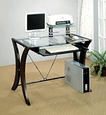 coaster 800445 division table desk with glass top cappuccino amazoncom coaster shape home office