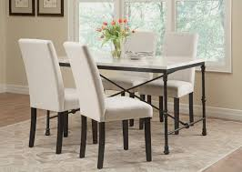 Marble Top Kitchen Table Set Coaster 106131 Nagel Dark Rustic 5 Pcs Marble Top Dining Table Set