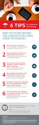 6 behavioral interviewing tips infographic travelers insurance infographic of 6 tips of behavioral interviewing