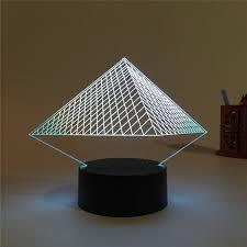 2019 <b>Hot Sale</b> Pyramid 3D USB <b>Led Night Light</b> Changing ...