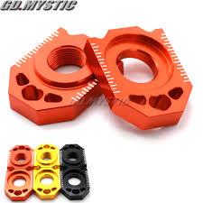 <b>CNC Rear Chain Adjuster</b> Axle Block For KTM SX SX F XC XC F ...