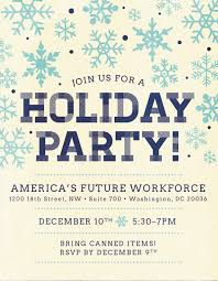 holiday party flyer yellow america s future workforce original