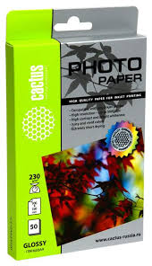 <b>Фотобумага</b> для принтера <b>Cactus</b> Standart <b>CS</b>-GA623050 Белый ...