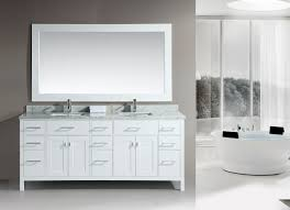 white double sink bathroom  white finish design element quot london double sink bathroom vanity
