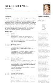 dentist resume samples   visualcv resume samples databasedentist resume samples