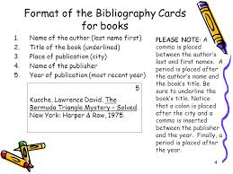 how to write a great research paper bibliography cards note   format of the bibliography cards for books name of the author last