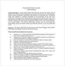sales associate job description templates – free sample    nursery retail sales associate job description free pdf format