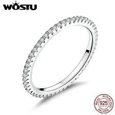 WOSTU <b>Genuine 100</b>% <b>925 Sterling</b> Silver Simple Geometric ...