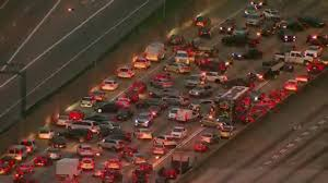 tremendous traffic impact expected after bridge collapse wjla raw ga atlanta i 85 fire cars try to turn around