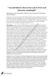 english advanced discovery essay the tempest  yearhsc  english advanced discovery essay the tempest