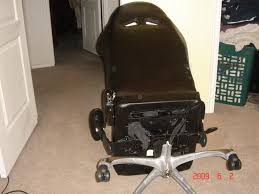 leg break off of the cool new chair cry like a baby because your wife is laughing at you again and your cool new chair is ruined honda recaro seat office
