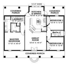 images about Small homes  under sf  on Pinterest    Covered Porches  House Plans And More  Simple House Plans  One Story House Plans With Wrap Around Porch  Small House Floor Plans  Small Beach House Plans