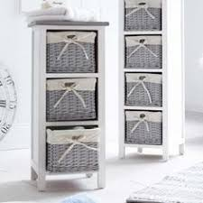 white storage unit wicker:  drawer storage cabinet with wicker baskets